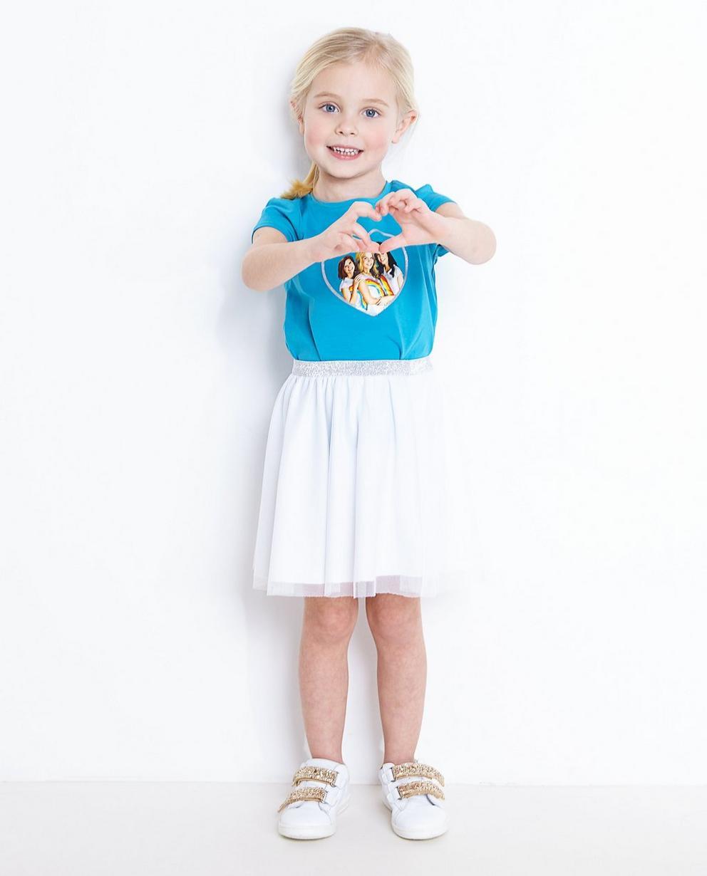 T-Shirt mit Glitterprint - in Blau, K3 - K3